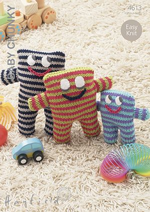 Hayfield Knitting Patterns For Babies : Hayfield Baby Chunky - 4613 Stripey Toy Knitting Pattern