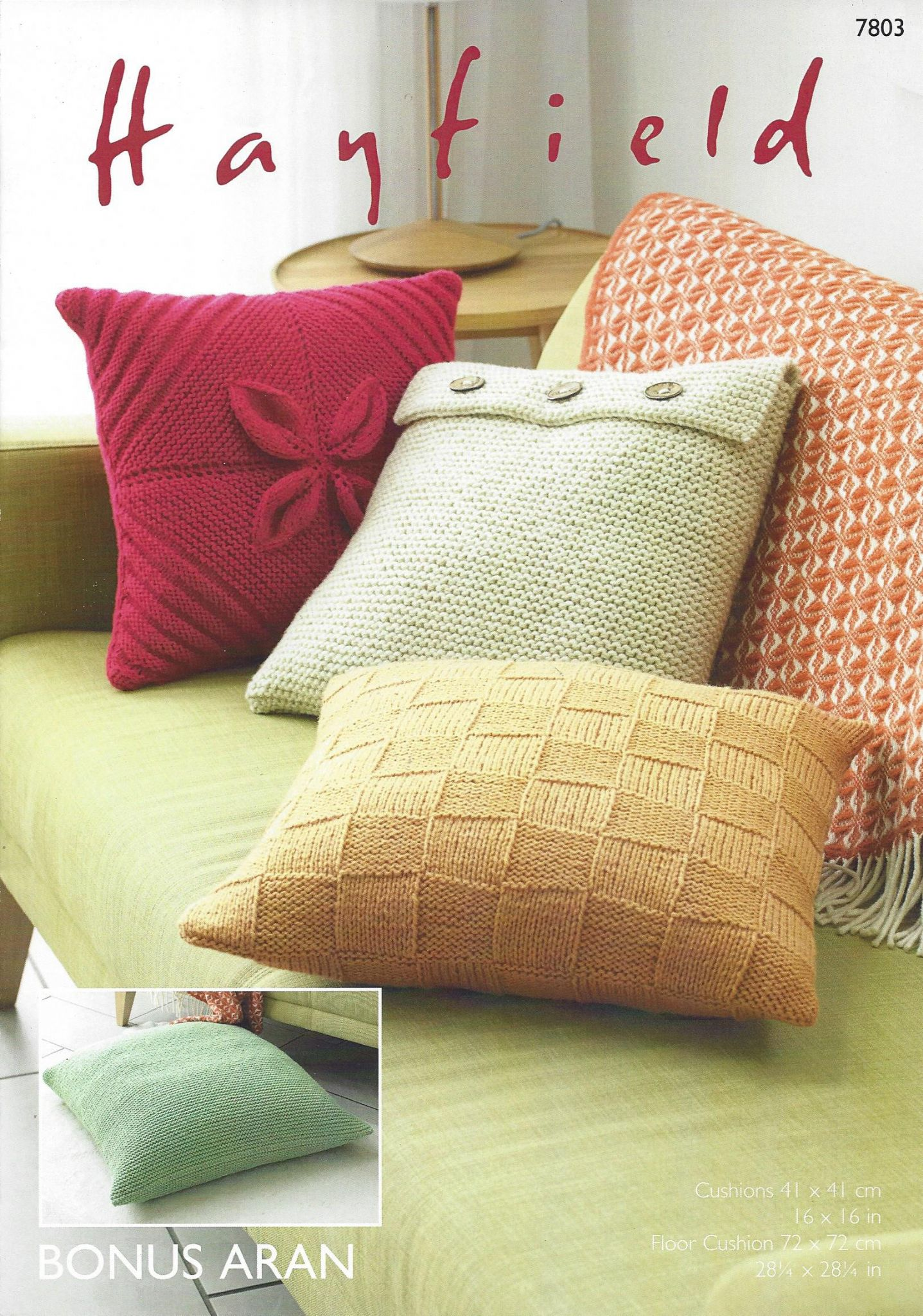 Magnificent Aran Pillow Knitting Pattern Picture Collection - Easy ...