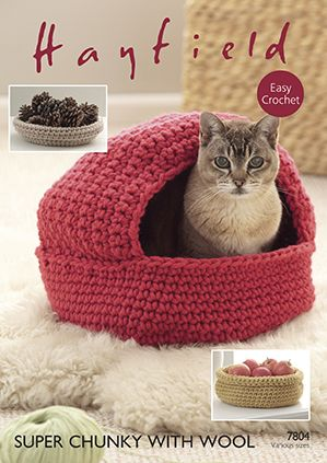 Hayfield Super Chunky with Wool - 7804 Cat Nest & Storage ...