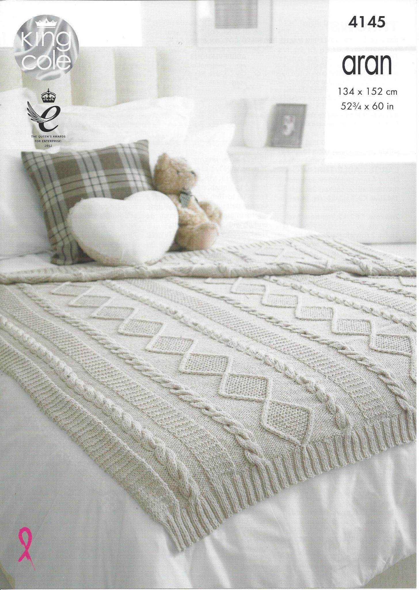 King Cole - 4145 Throws Knitting Pattern