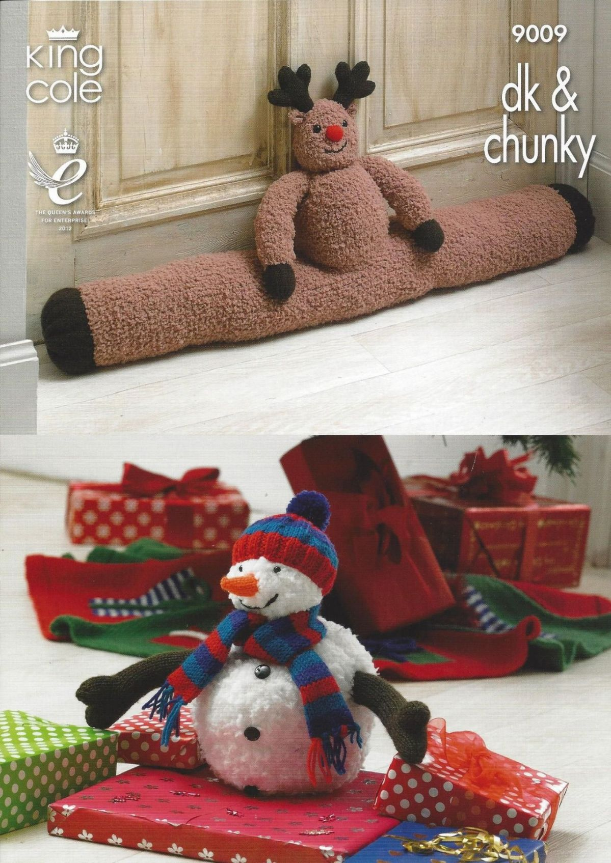King Cole Snowman Knitting Pattern : King Cole - 9009 Rudolph Draught Excluder Christmas Tree Skirt and Snowman To...