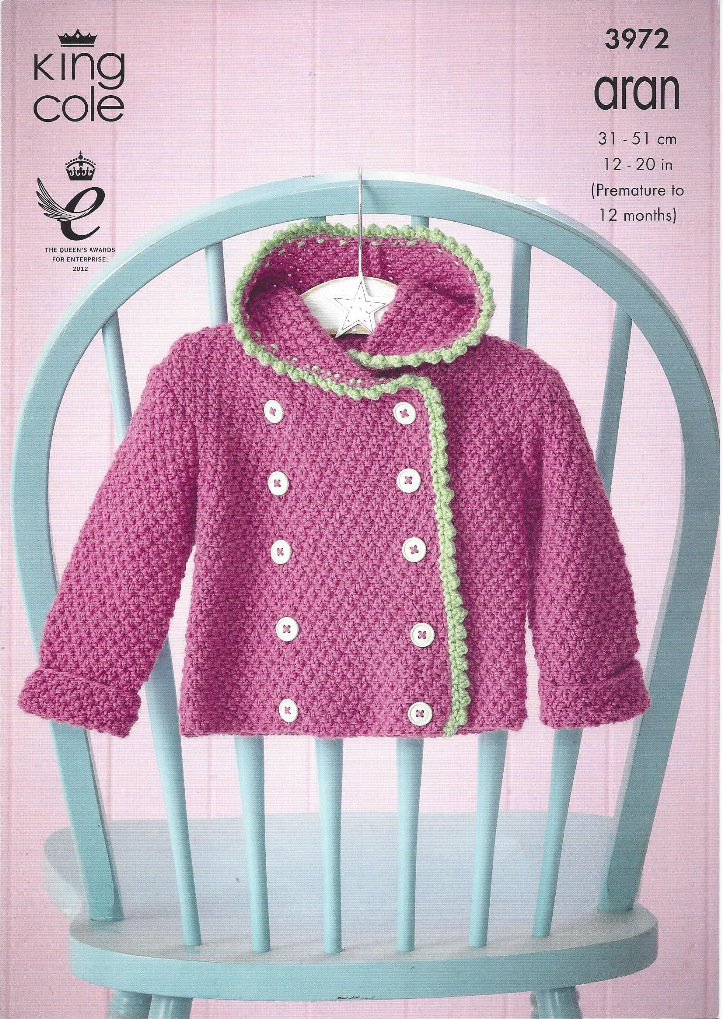 King cole aran knitting pattern 3972 coat dress hoodie bootees bankloansurffo Gallery