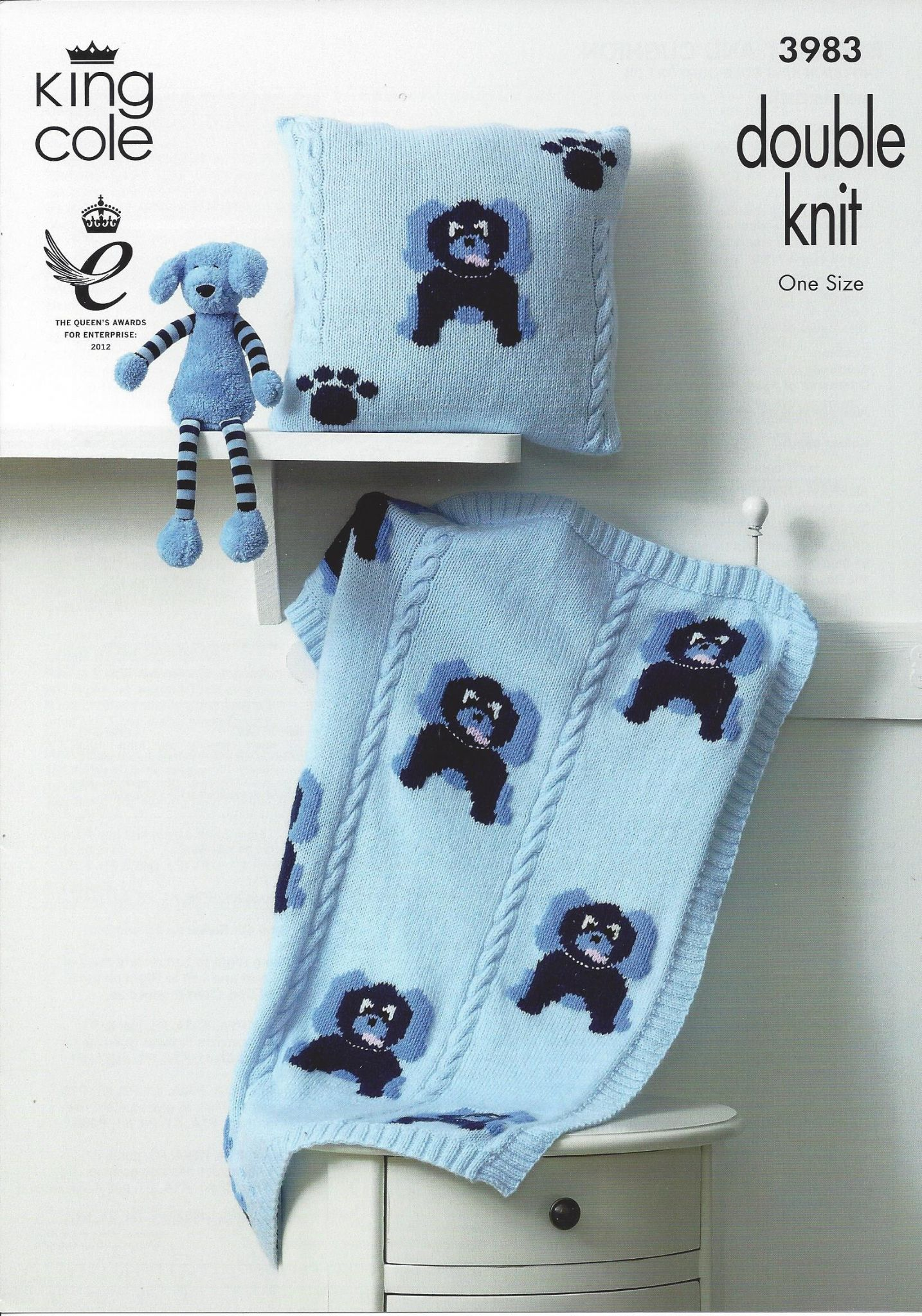 Knitting Pattern King Cole : King Cole Baby DK Knitting Pattern - 3983 Blanket & Cushion