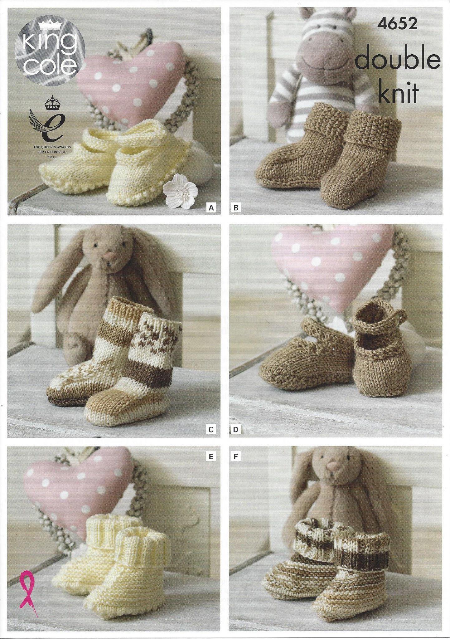 King Cole Baby DK Knitting Pattern - 4652 Socks Booties ...