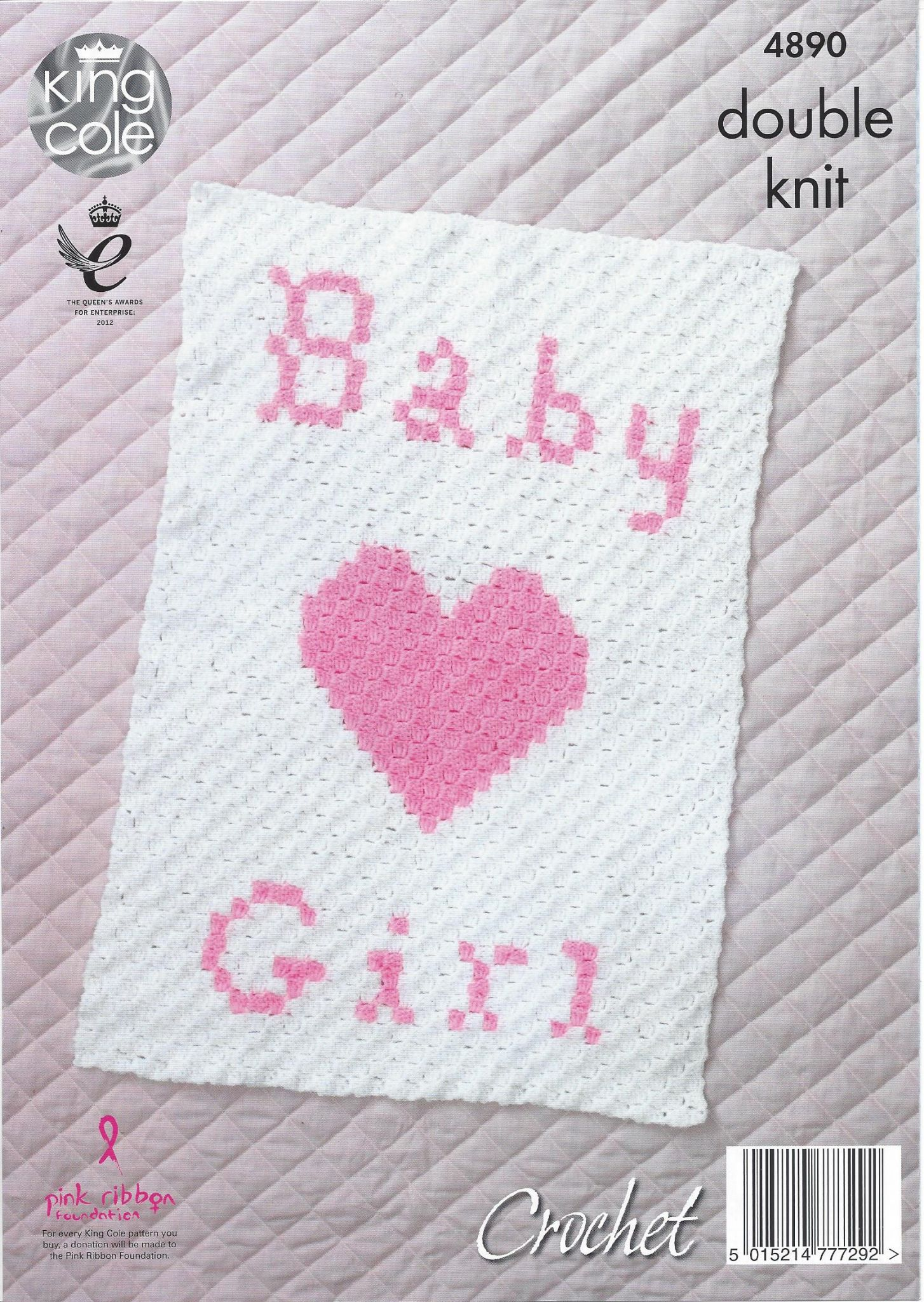 King Cole Baby DK Knitting Pattern - 4890 Baby Blankets