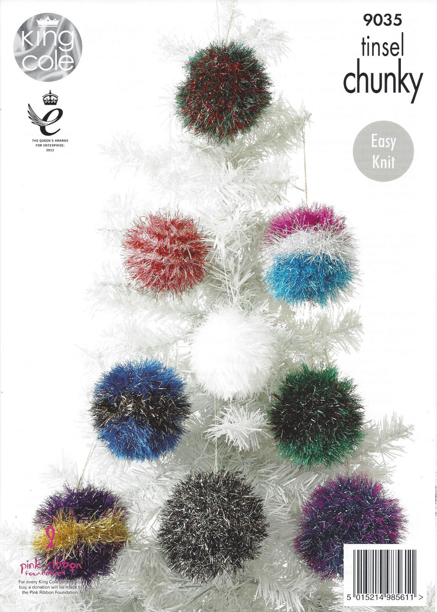 Knitting Patterns For King Cole Tinsel : King Cole Tinsel Chunky - 9035 Tinsel Christmas Trees and Baubles Knitting Pa...