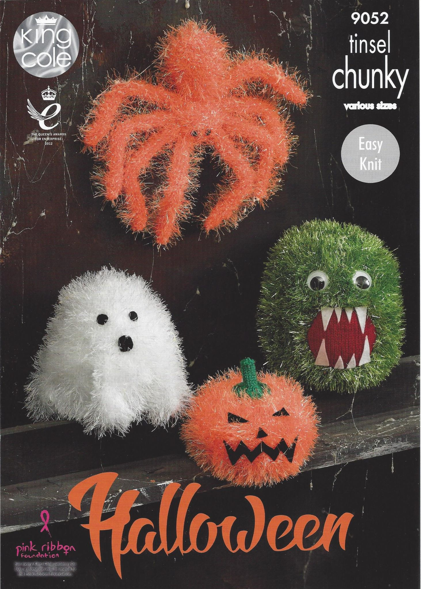 King Cole Tinsel Chunky - 9052 Halloween Monsters Knitting Pattern