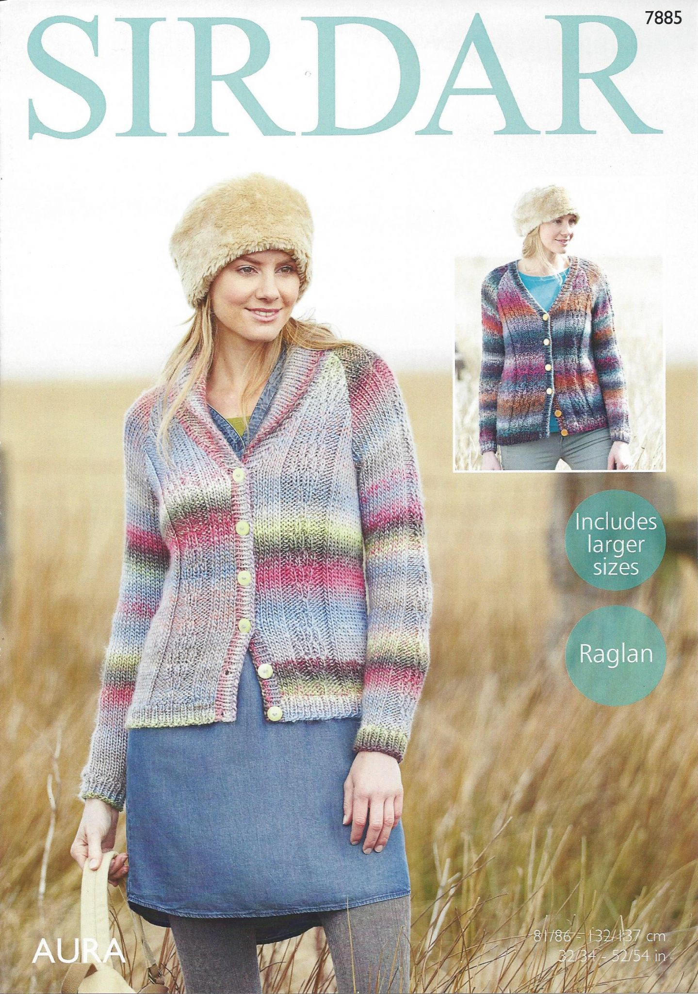 Machine Knitting Patterns For Babies : Sirdar Aura Chunky - 7885 Cardigans Knitting Pattern