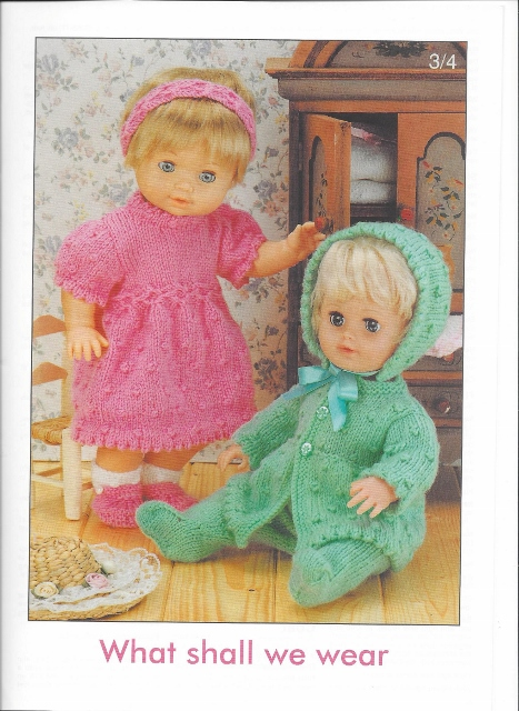 Sirdar Knitting Patterns For Dolls Clothes : Sirdar Book 244 - Dolls Wardrobe - 4 Ply & Double Knitting