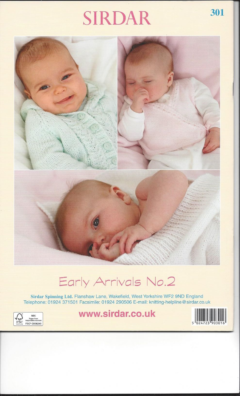 Sirdar Knitting Pattern Books Baby : Sirdar Book 301 - Early Arrivals No. 2 - Sirdar Snuggly ...
