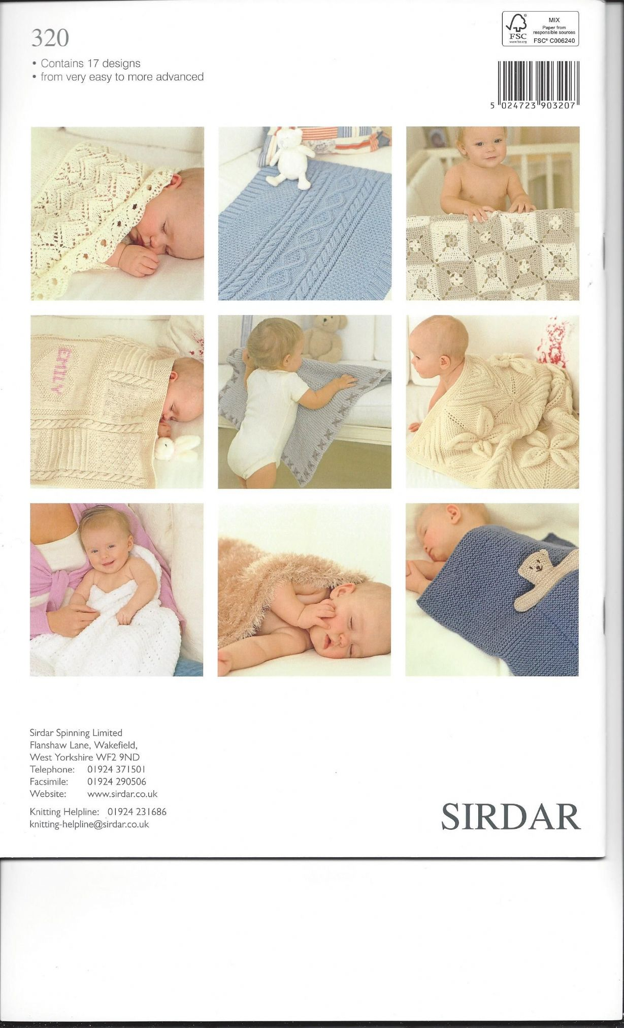 Knitting Patterns For Baby Blankets Sirdar : Sirdar book the baby blanket snuggly