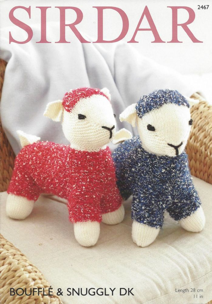 Sirdar Toy Knitting Patterns : Sirdar Bouffle & Snuggly DK - 2467 Toy Lambs Knitting Pattern
