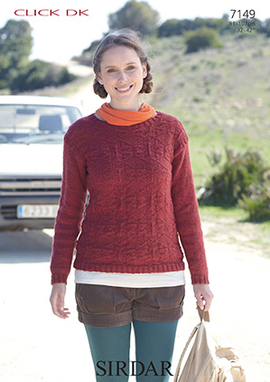 Sirdar Christmas Jumper Knitting Patterns : Sirdar Click DK - 7149 Sweater Knitting Pattern
