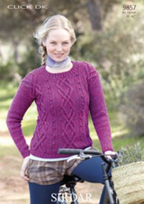 Sirdar Christmas Jumper Knitting Patterns : Sirdar Click DK - 9857 Jumper Knitting Pattern