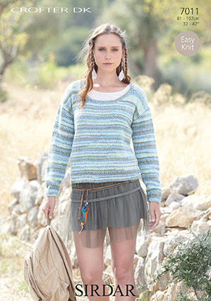 Sirdar Christmas Jumper Knitting Patterns : Sirdar Crofter DK - 7011 Jumper Knitting Pattern