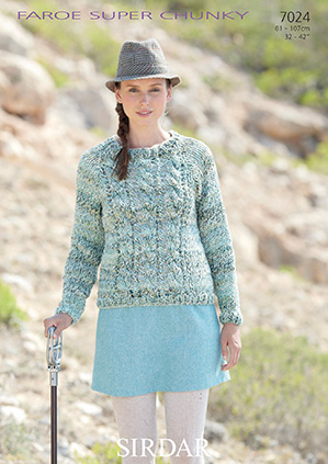Sirdar Christmas Jumper Knitting Patterns : Sirdar Faroe Super Chunky - 7024 Jumper Knitting Pattern