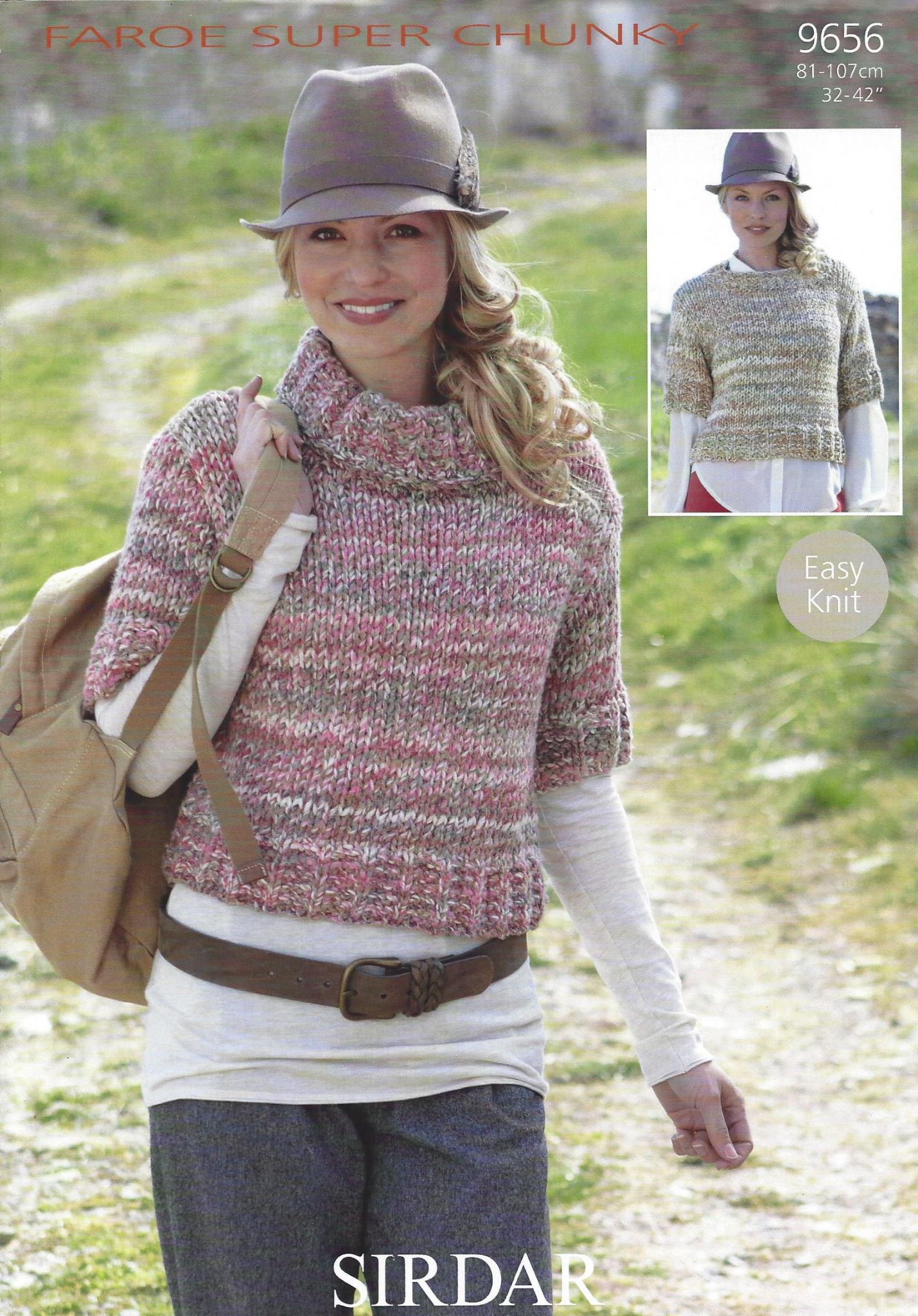 Sirdar Faroe Super Chunky - 9656 Sweaters Knitting Pattern