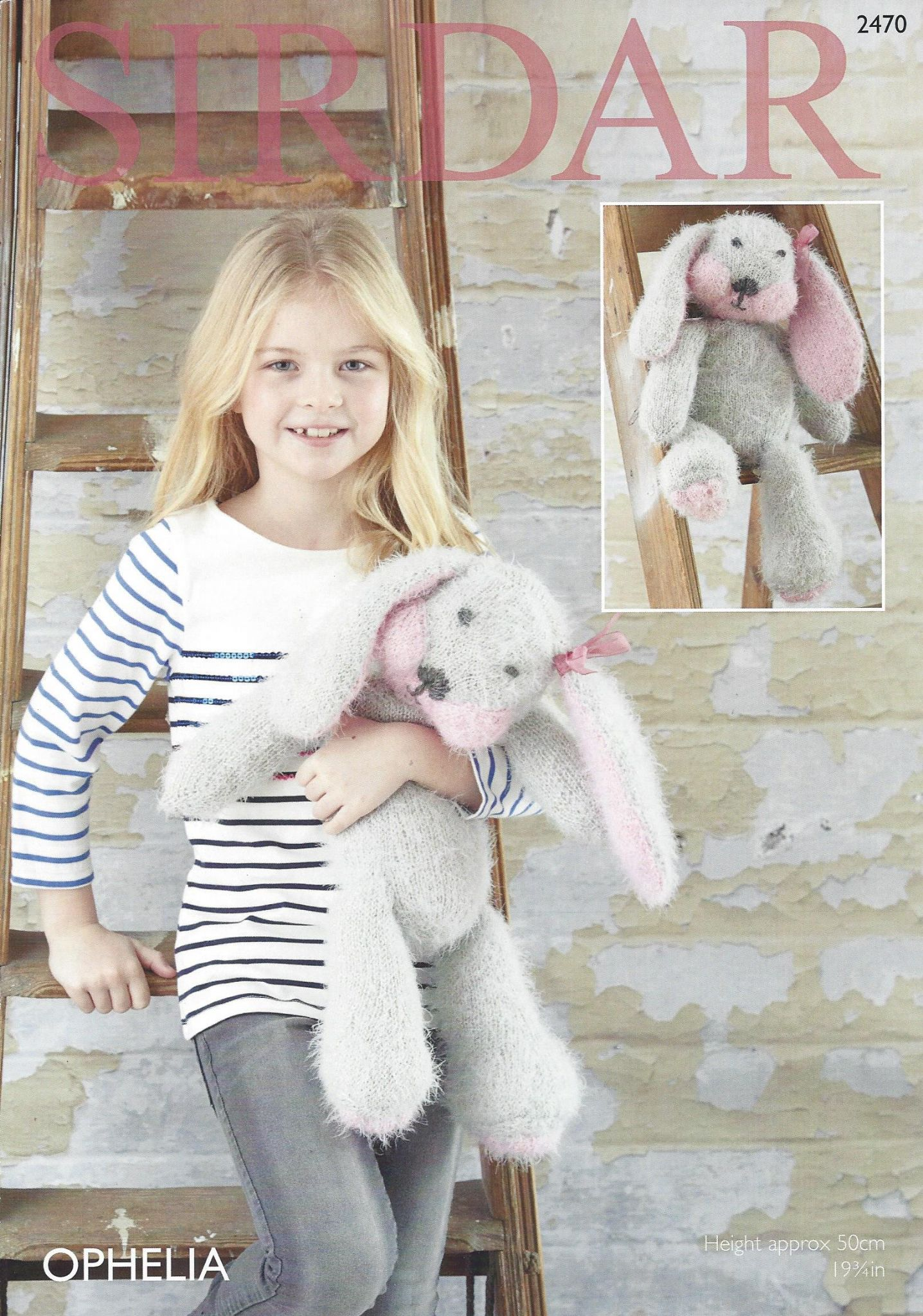 Sirdar Toy Knitting Patterns : Sirdar Ophelia - 2470 Rabbit Toy Knitting Pattern