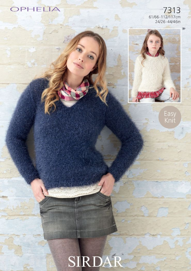 Sirdar Ophelia - 7313 Sweaters Knitting Pattern