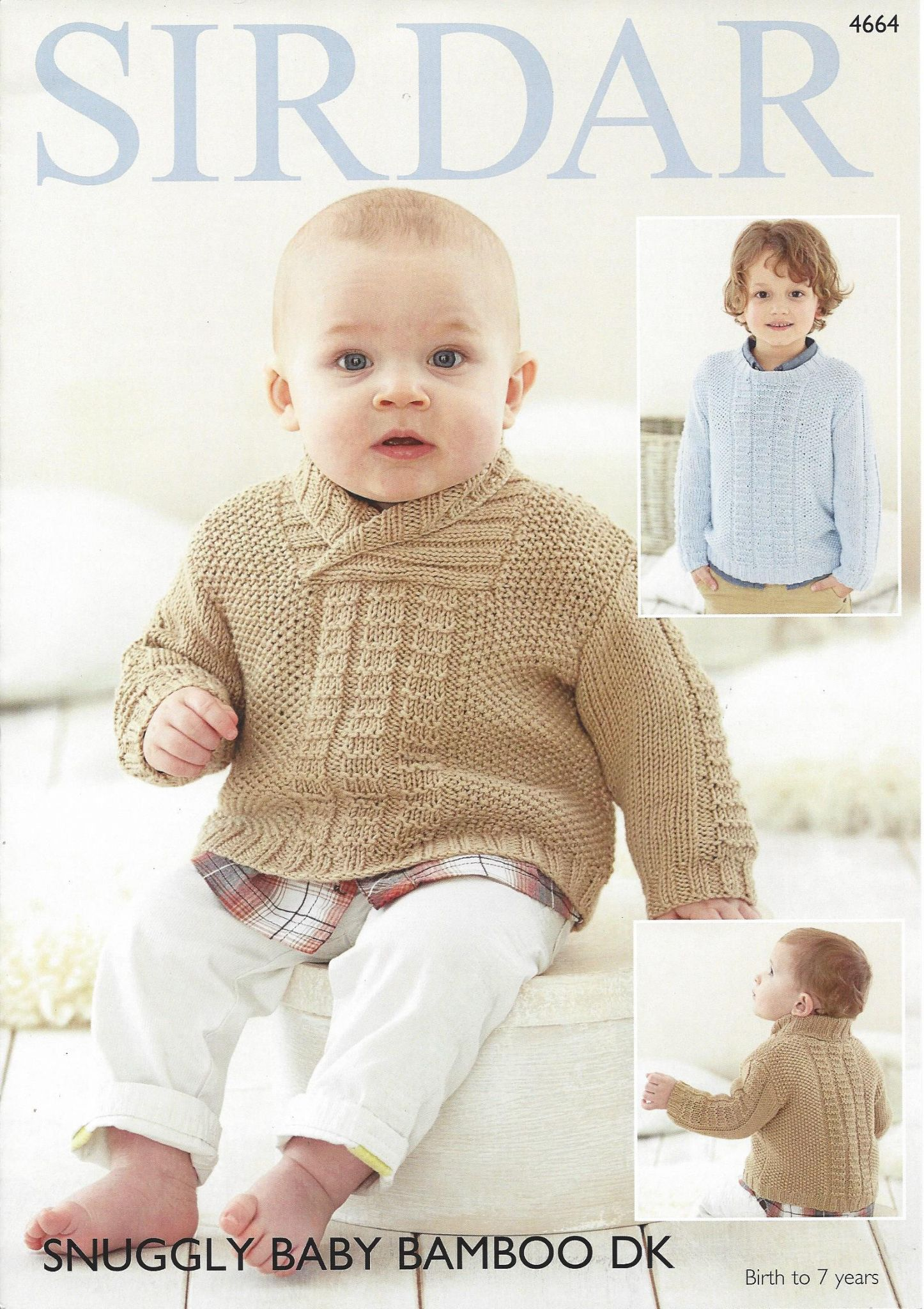 Sirdar Snuggly Baby Bamboo DK - 4664 Sweaters Knitting Pattern