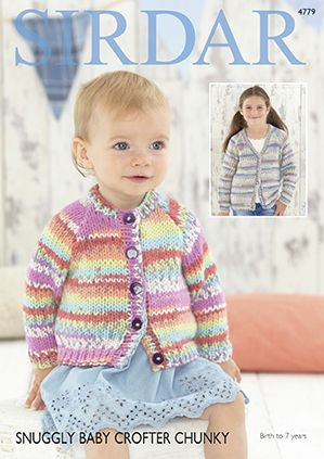 Sirdar Snuggly Baby Crofter Chunky 4779 Cardigans