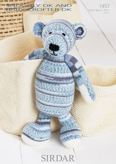 Sirdar Knitting Patterns Toys : Sirdar Snuggly Baby Crofter DK - 1457 Toy Bear Knitting ...