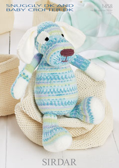Free Knitting Pattern Toy Puppy : Sirdar Snuggly Baby Crofter DK - 1458 Toy Dog Knitting Pattern