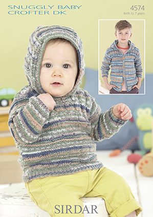 Sirdar Snuggly Baby Crofter DK - 4574 Hooded Jacket and Sweater ...