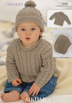 Sirdar Snuggly DK , 1648 Sweaters, Hat \u0026 Blanket Knitting Pattern .