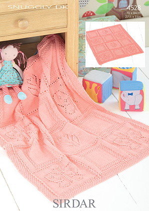 Sirdar Knitting Pattern : Sirdar Snuggly DK - 4528 Blanket Knitting Pattern