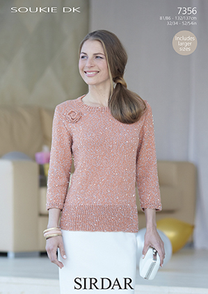 Sirdar Christmas Jumper Knitting Patterns : Sirdar Soukie DK - 7356 Jumper Knitting Pattern