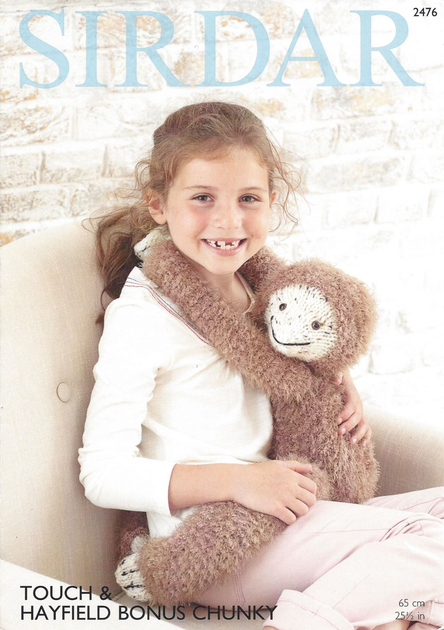 Sirdar Toy Knitting Patterns : Sirdar Touch - 2476 Gordon the Sloth Toy Knitting Pattern