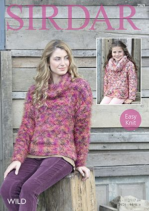 Sirdar Christmas Jumper Knitting Patterns : Sirdar Wild - 7969 Sweater Knitting Pattern