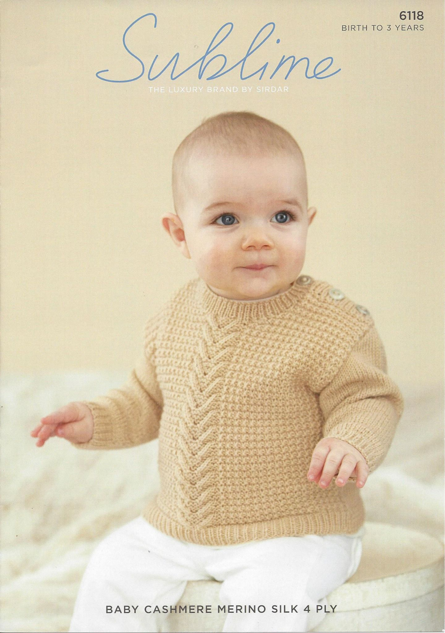 6118 BabyBoy's Sweater Knitting Pattern