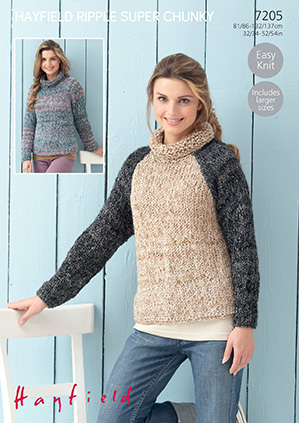 5a8ef834f Ladies Super Chunky Knitting Pattern King Cole Easy Knit Sweater   Jacket  4363 5015214826839