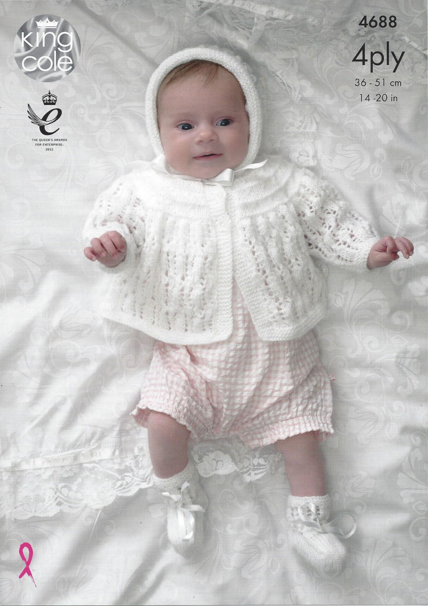 41b3ab0e1d55 King Cole Baby 4ply Knitting Pattern - 4688 Matinee Coat Cardigan ...