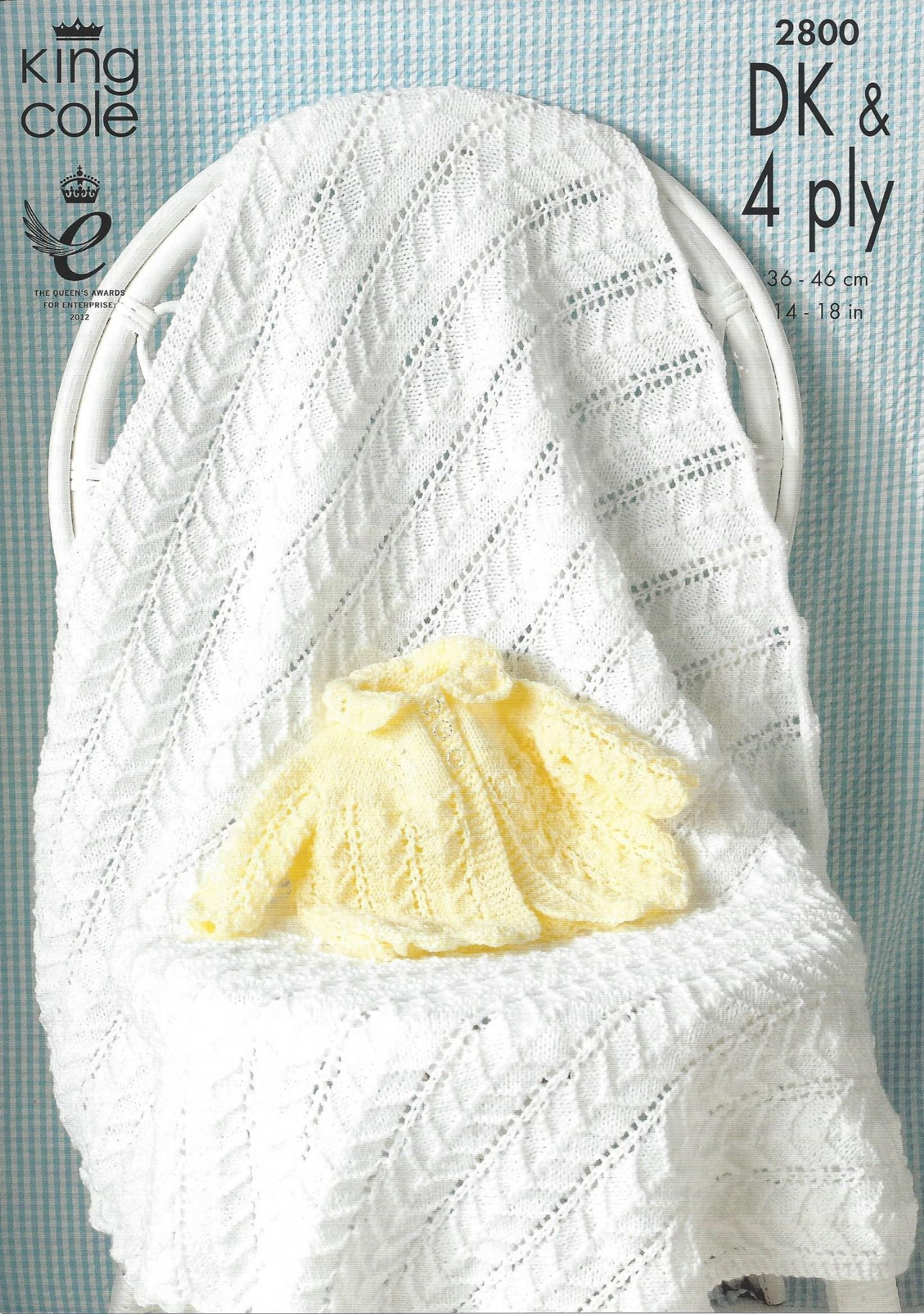King Cole Baby DK & 4ply Knitting Pattern - 2800 Matinee Coat and Shawl