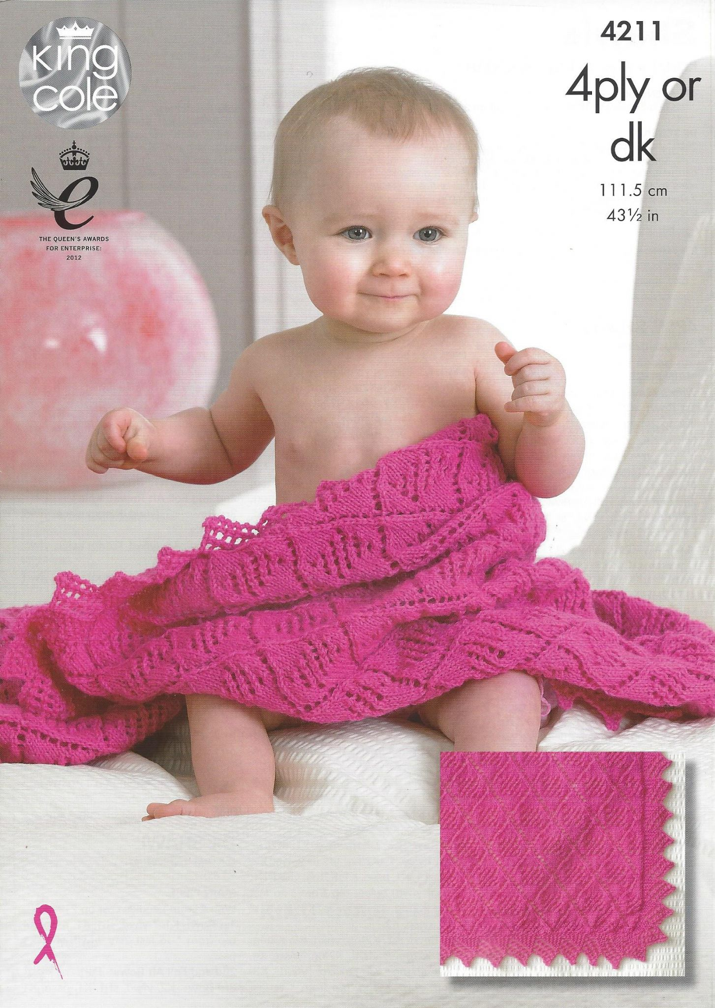 King Cole Baby DK & 4ply Knitting Pattern - 4211 Shawls