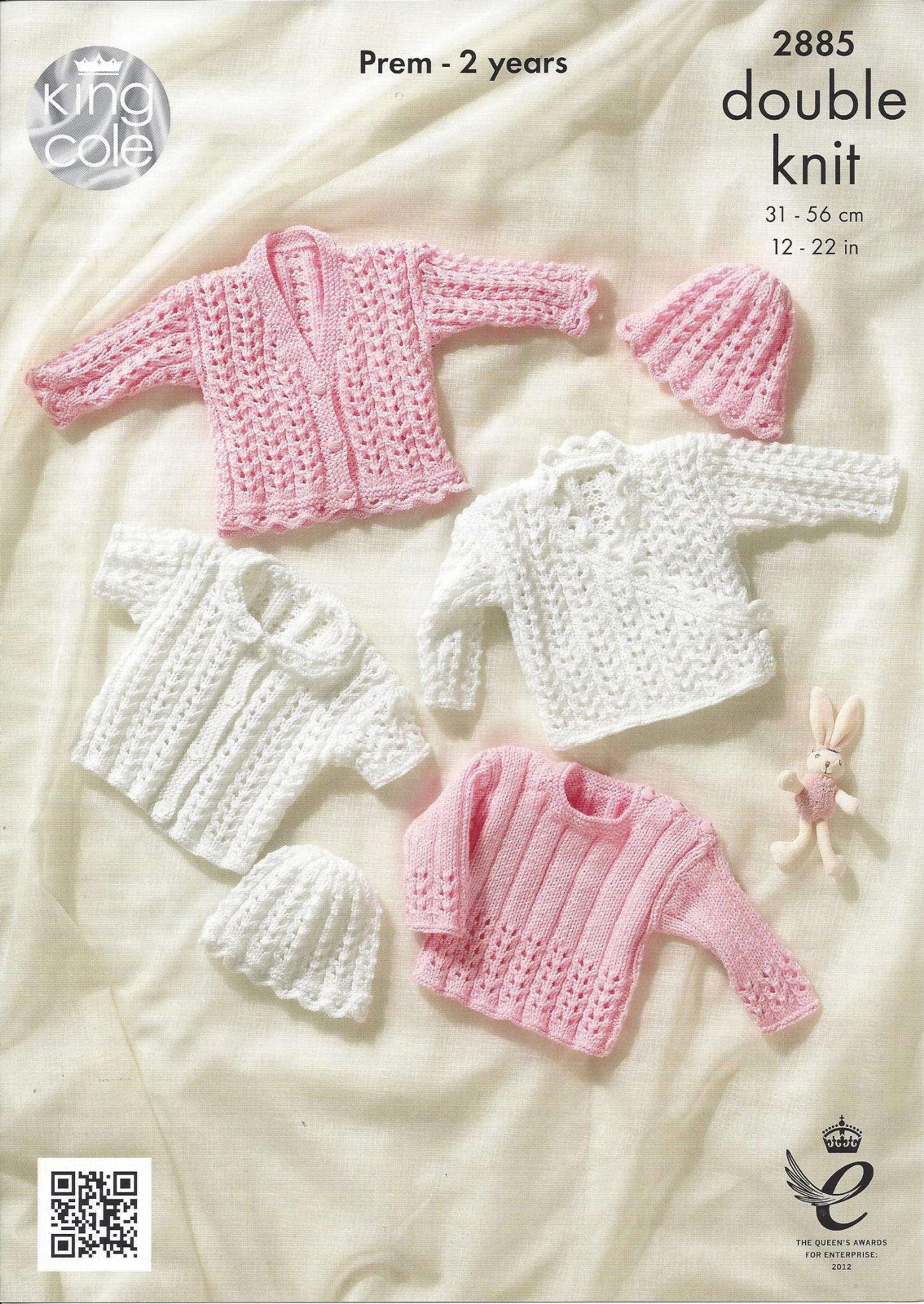 King Cole Baby DK Knitting Pattern - 2885 Cardigans Sweater & Hat