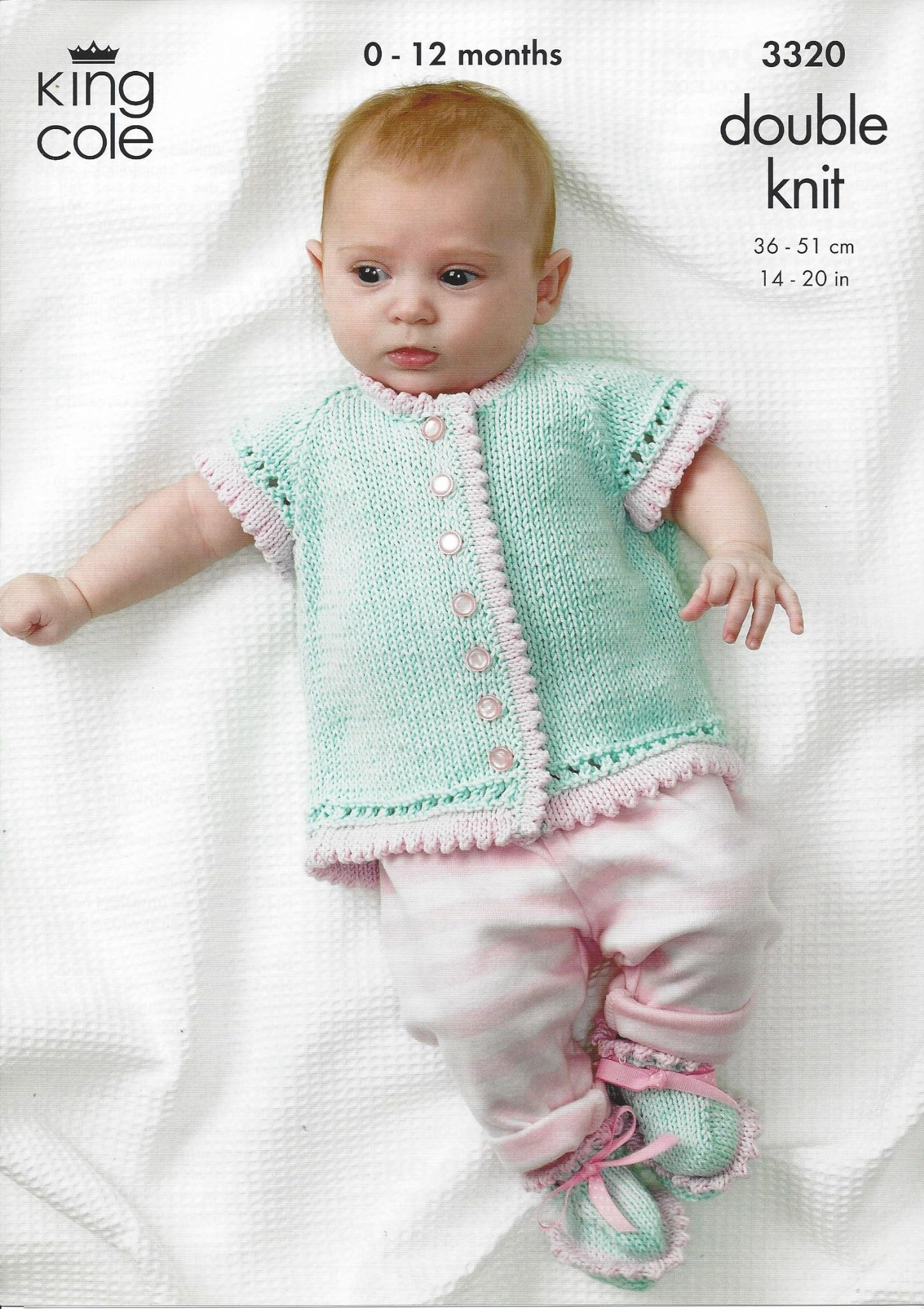 King Cole Baby DK Knitting Pattern - 3320 Round Neck Crossover ...