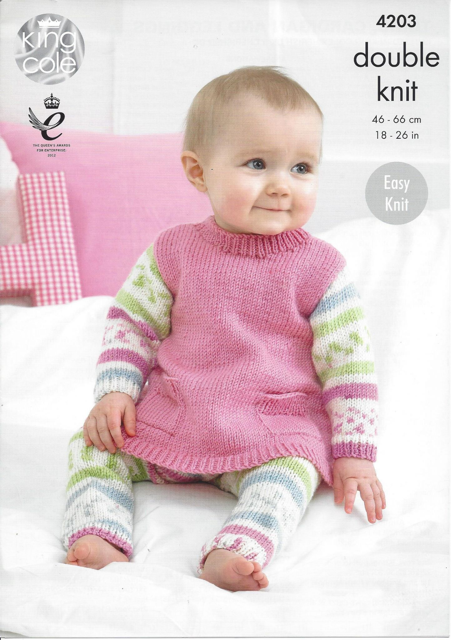 King Cole Baby DK Knitting Pattern - 4203 Tunic Cardigan & Leggings