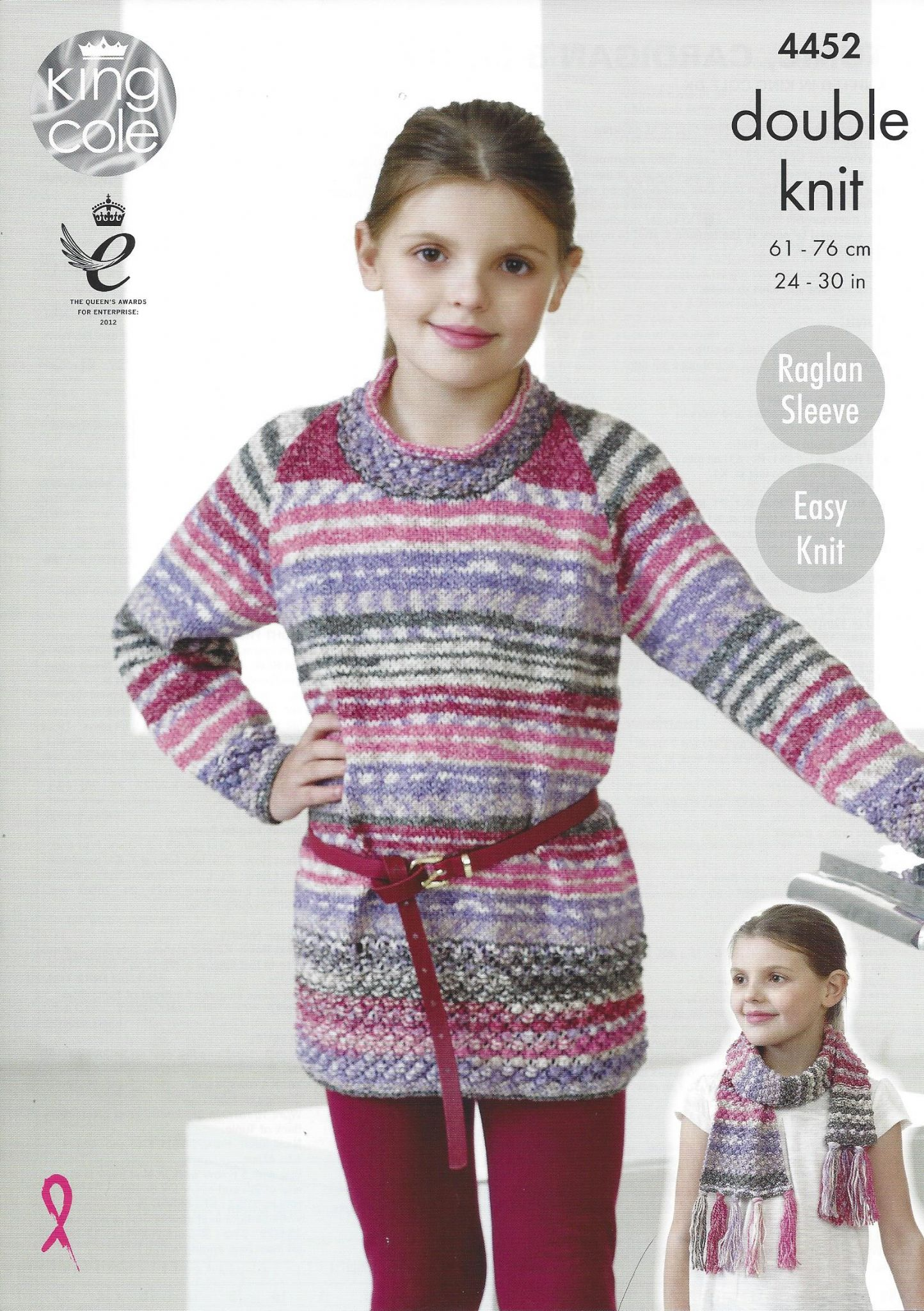 King Cole Drifter DK - 4452 Tunic Cardigan & Scarf Knitting Pattern