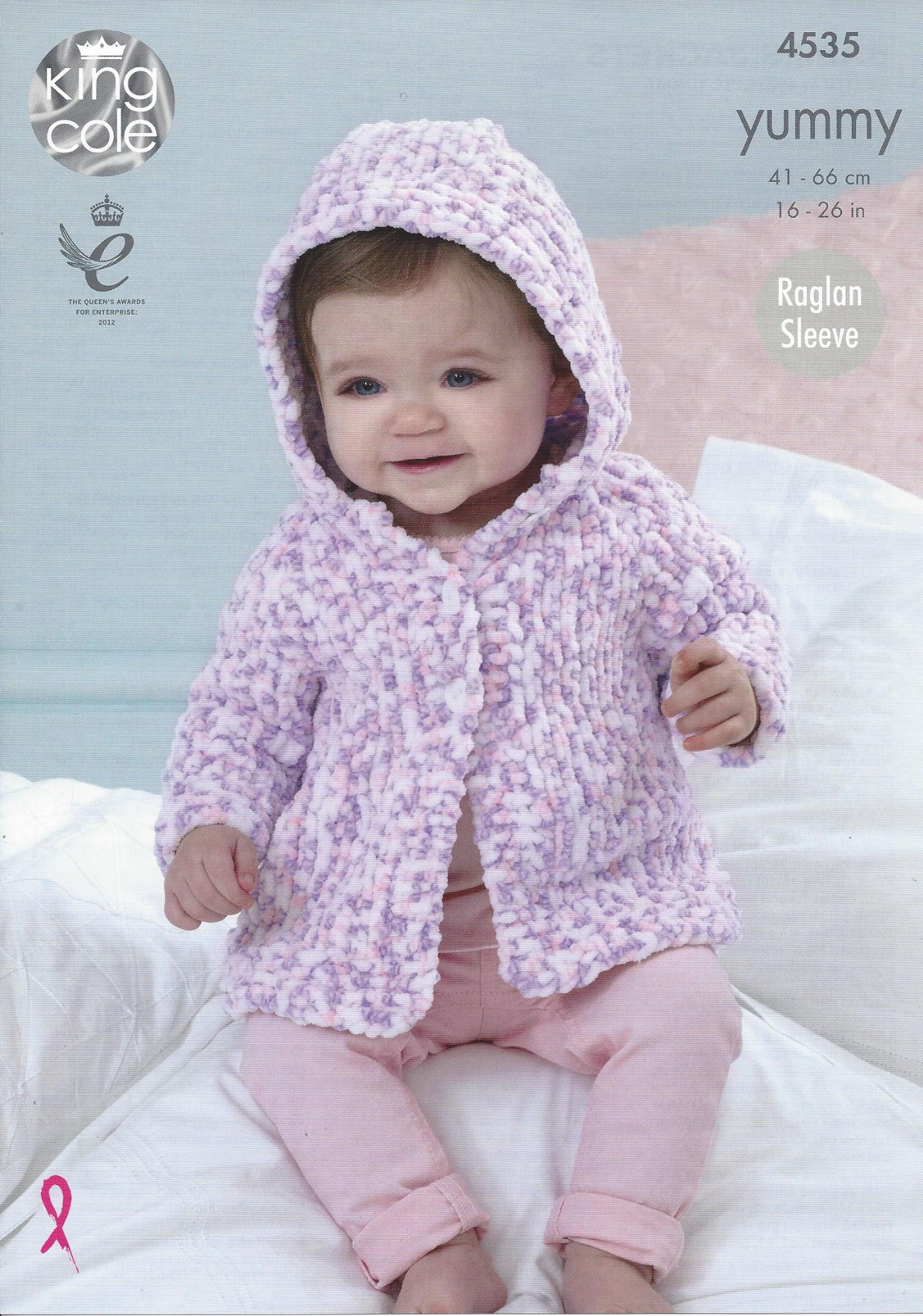 3bac8ace9418e7 ... offer discounts 82f68 b141d King Cole Yummy - 4535 Baby Jackets Knitting  Pattern ...