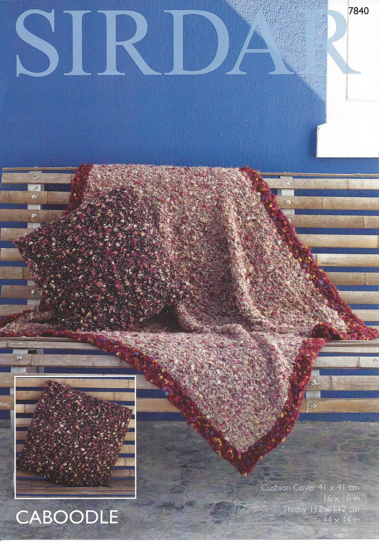 Sirdar Caboodle - 7840 Throw & Cushion Cover Knitting Pattern