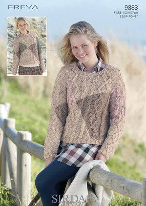 Sirdar Freya Chunky 9883 Jumpers Knitting Pattern