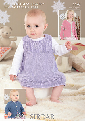 Sirdar Snuggly Baby Bamboo Dk 4470 Dress And Cardigans Knitting