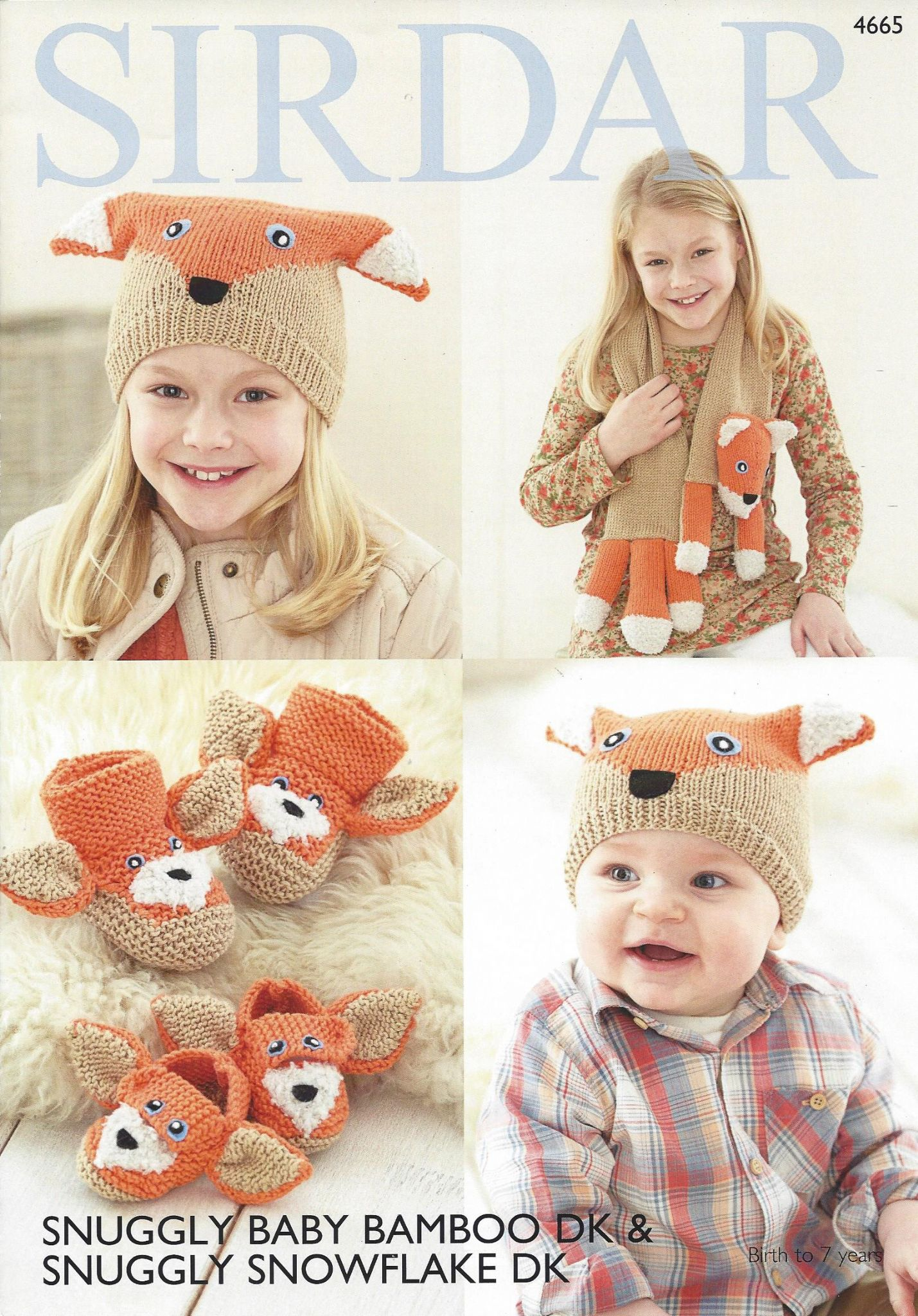 Sirdar Snuggly Baby Bamboo DK - 4665 Scarf Hat Bootees & Shoes ...