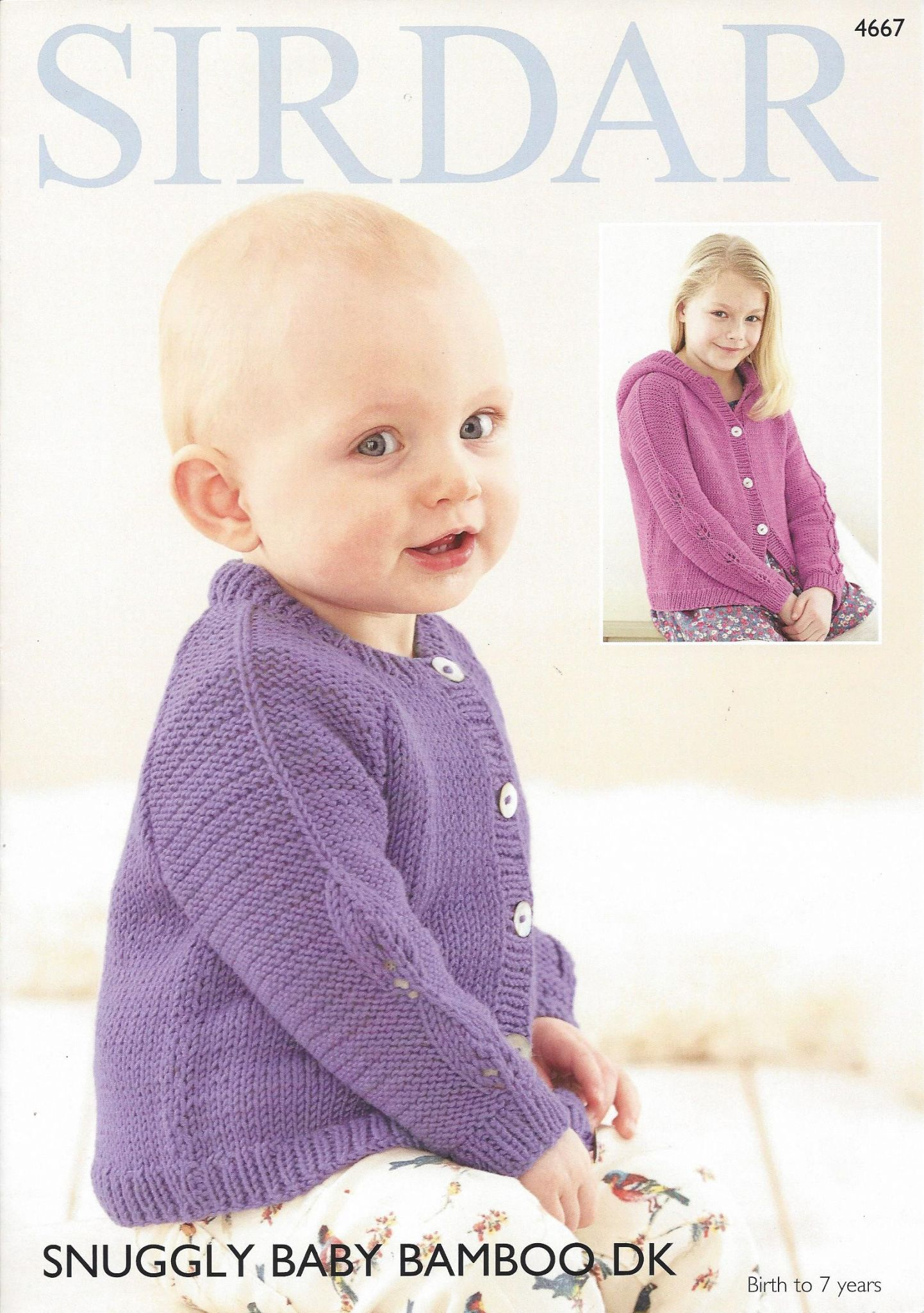 Sirdar Snuggly Baby Bamboo Dk 4667 Cardigans Knitting