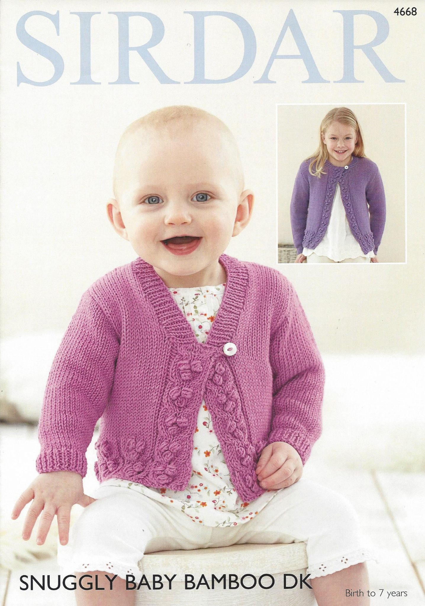 Sirdar Snuggly Baby Bamboo Dk 4668 Cardigans Knitting