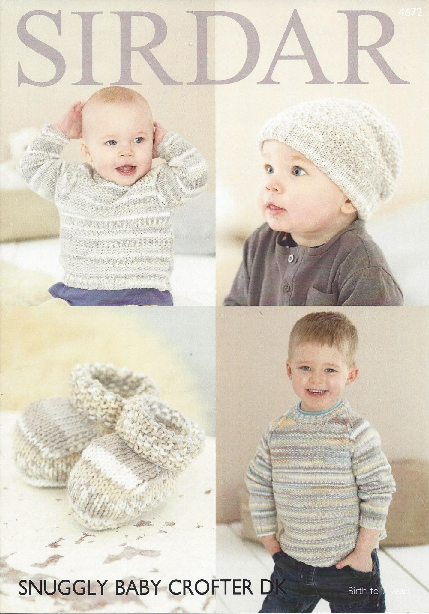 Sirdar Snuggly Baby Crofter Dk 4672 Sweater Hat